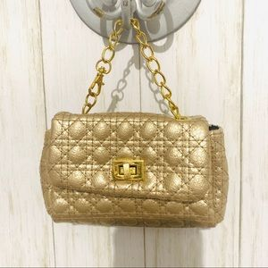 Mini Gold Quilted Bag